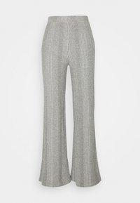 PCMANVI WIDE PANT - Trousers - dark grey melange