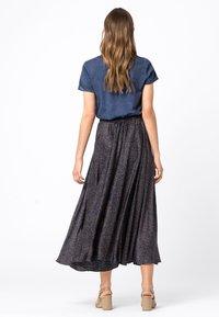 HALLHUBER - Pleated skirt - indigo - 1