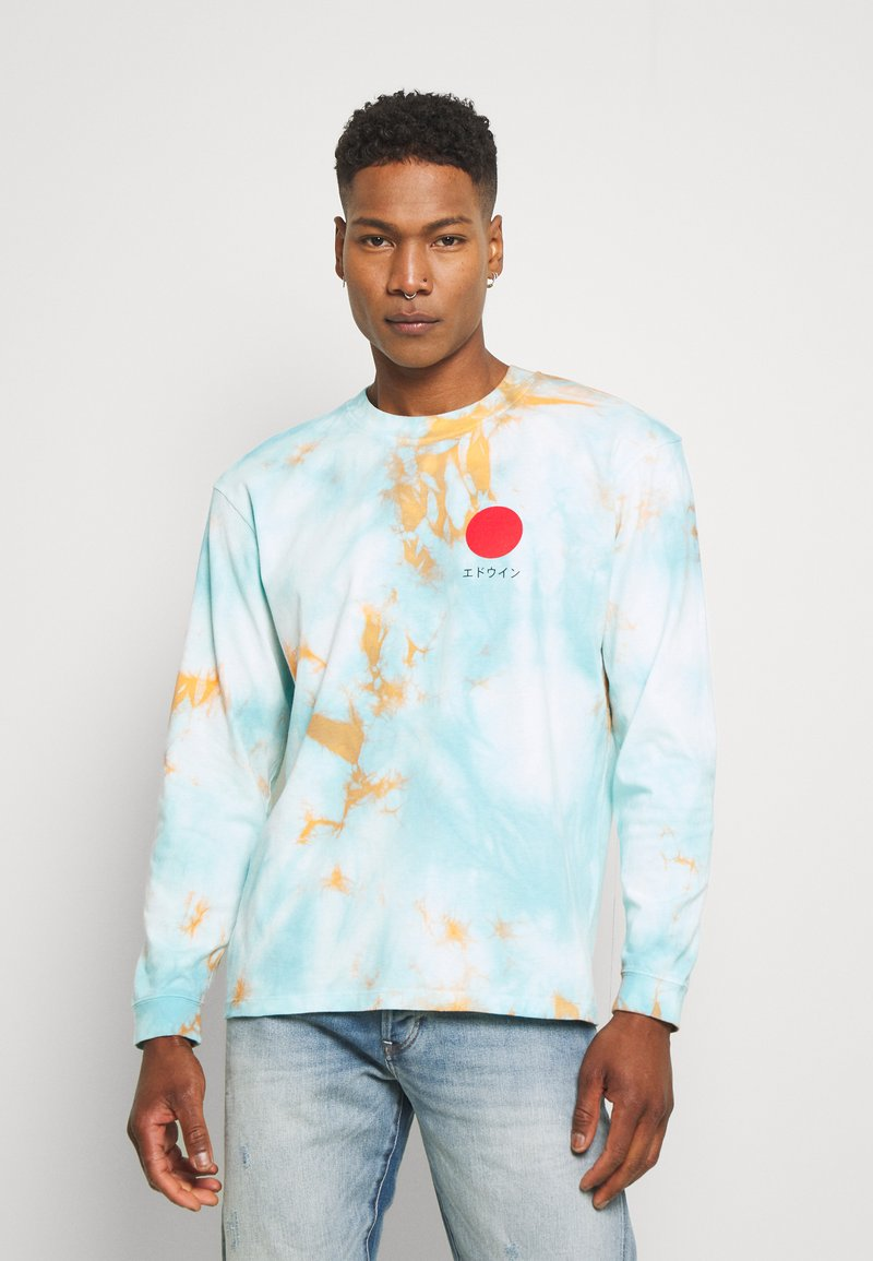 Edwin - JAPANESE SUN - Maglietta a manica lunga - blue/cantaloupe