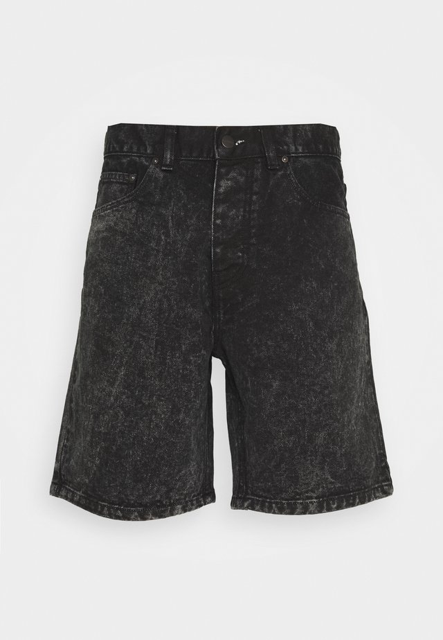 NEWEL PARKLAND - Shorts di jeans - black worn