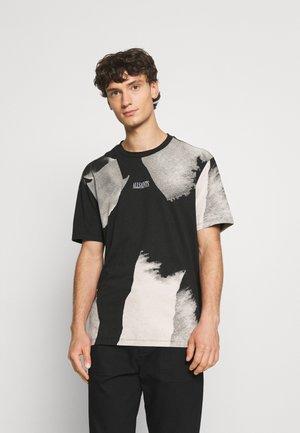 SANTANA CREW - Print T-shirt - jet black/grey