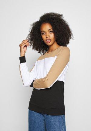 NMPANA BLOCKING NEW  - Sweatshirt - black/ligh tbrown/white