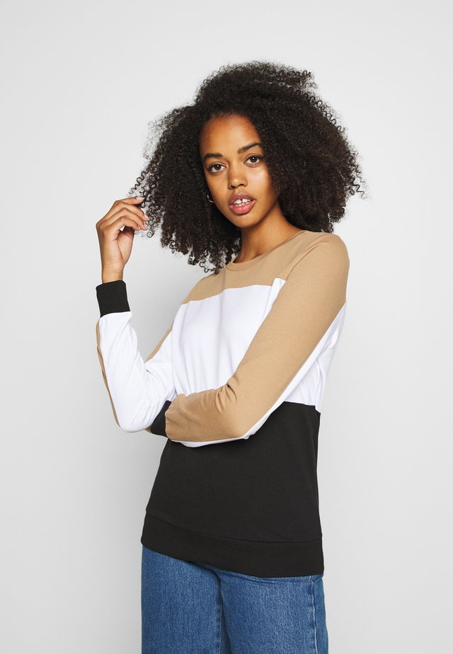 NMPANA BLOCKING NEW  - Bluza - black/ligh tbrown/white