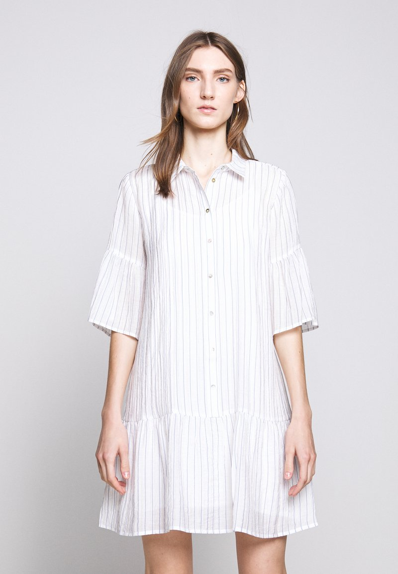 Bruuns Bazaar - VICKIE BALLY DRESS - Shirt dress - dream blue/white