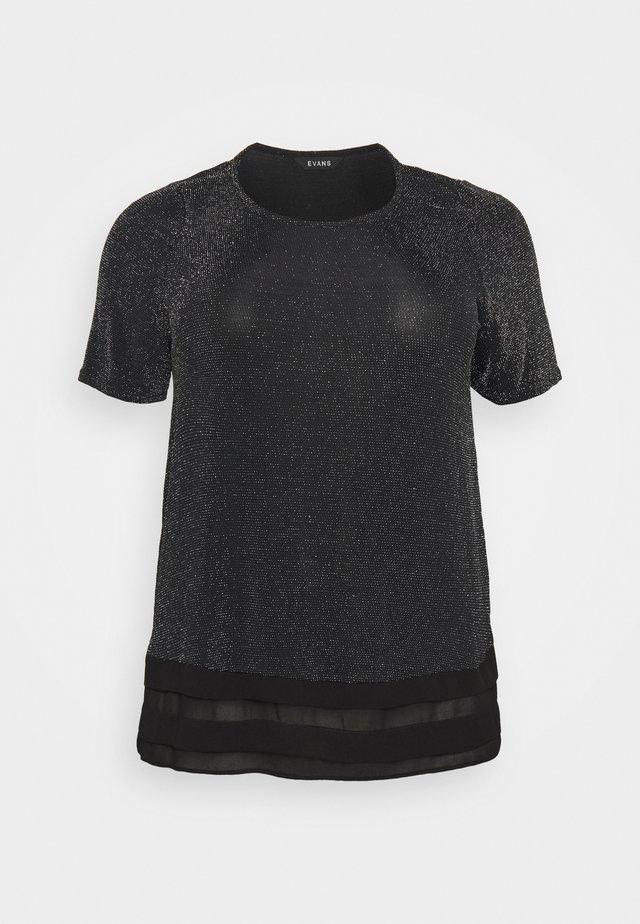 BRILLO TOP  - T-shirt basique - silver