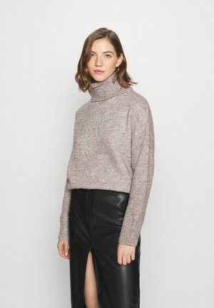 BASIC-TURTLE NECK OVERSIZED - Jumper - taupe
