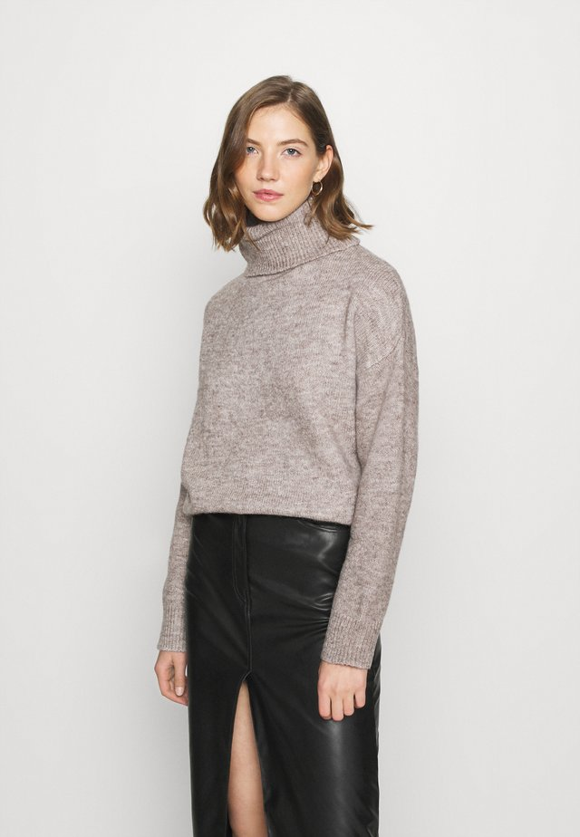 BASIC-TURTLE NECK OVERSIZED - Neule - taupe