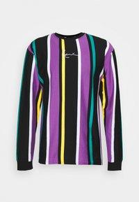 Karl Kani - UNISEX SIGNATURE STRIPE LONG SLEEVE - Long sleeved top - black - 0
