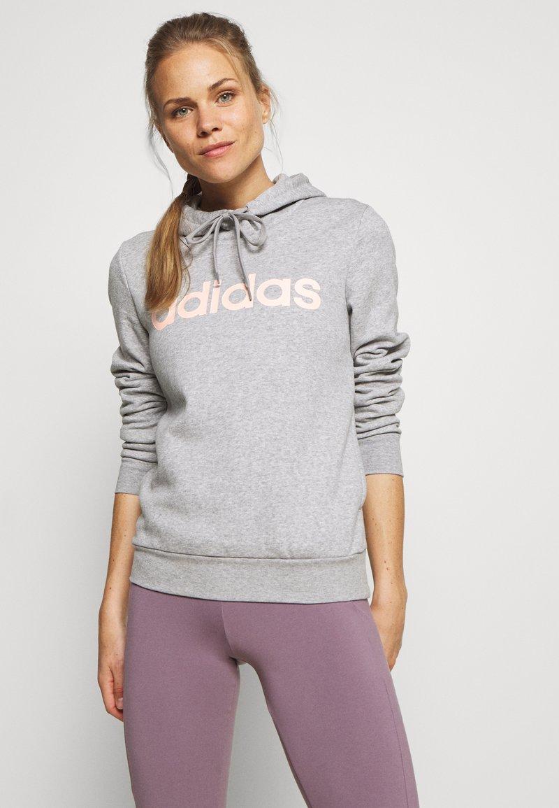 adidas Performance - Jersey con capucha - grey/pink