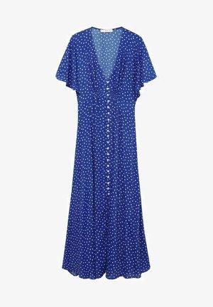 MIDI MED PRIKKER - Długa sukienka - blue