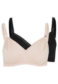 Marks & Spencer London - 2 PACK - T-shirt bra - black/beige - 0