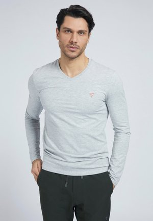 LANGE MOUW - Long sleeved top - grijs