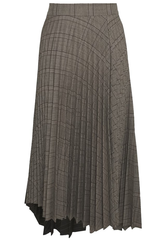 Pleated skirt - grey black