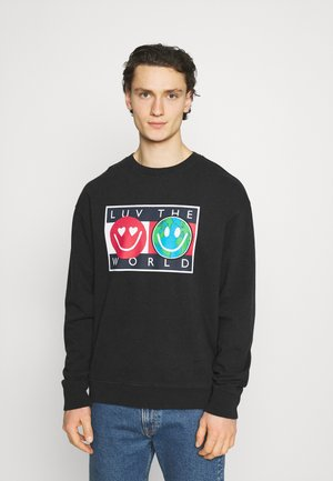 LUV THE WORLD CREW  - Sweatshirt - black