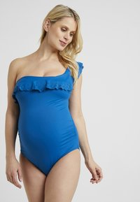 Cache Coeur - ONE PIECE MATERNITY BATHING SUIT WITH FIXED PADS - Costume da bagno - retro blue - 4