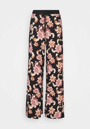 Trousers - black/multi