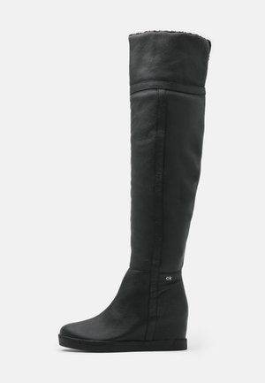 FLORENCIA - Botas de cuña - black
