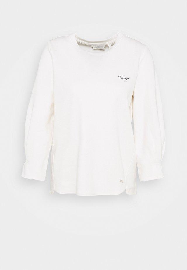 Top sdlouhým rukávem - gardenia white