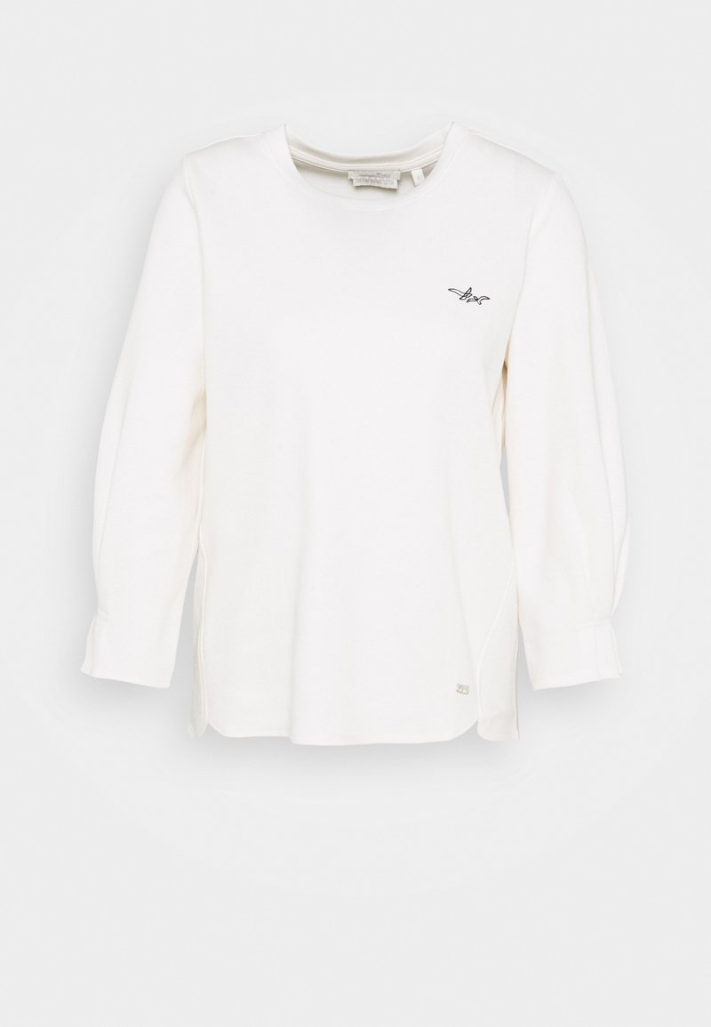 TOM TAILOR DENIM - Long sleeved top - gardenia white