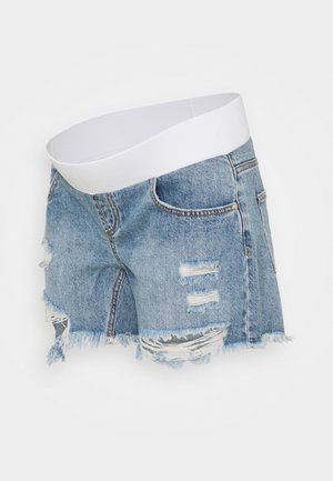 DISTRESSED - Shorts di jeans - pale blue