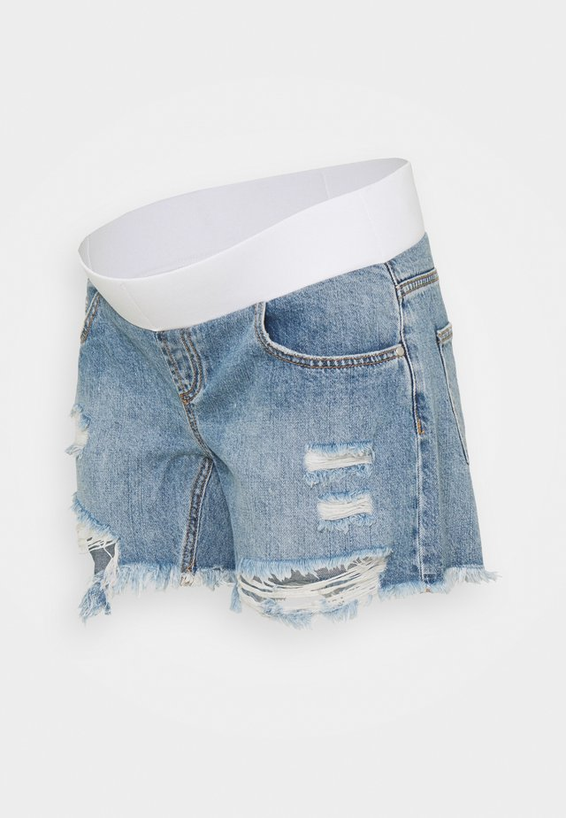 DISTRESSED - Shorts di jeans - pale blue