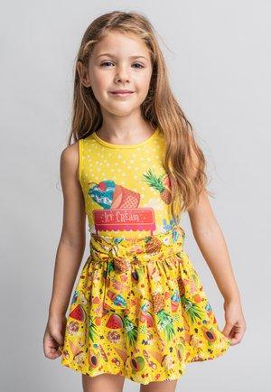 FALDA - A-line skirt - light yellow