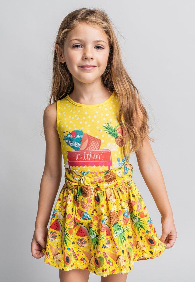 FALDA - Jupe trapèze - light yellow