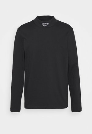 MOCKNECK TEE - Long sleeved top - black