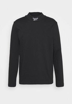 MOCKNECK TEE - Langærmede T-shirts - black