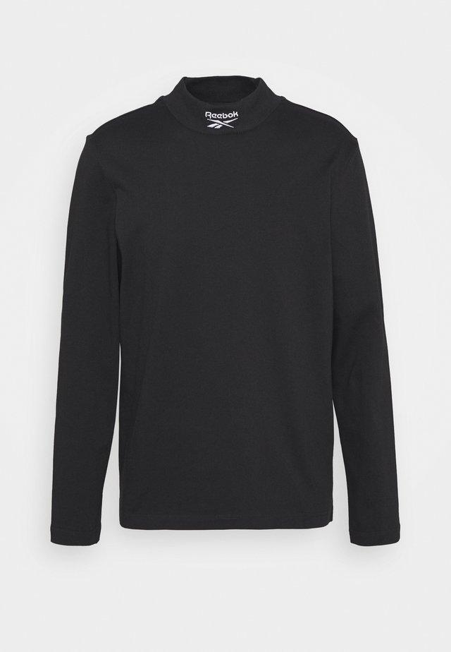 MOCKNECK TEE - Bluzka z długim rękawem - black