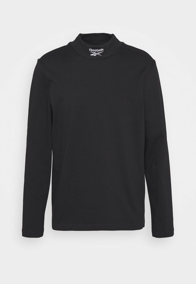 MOCKNECK TEE - Top sdlouhým rukávem - black