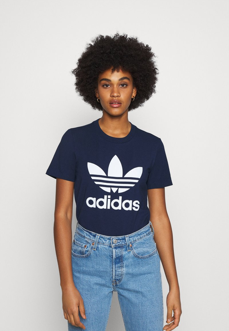adidas Originals - TREFOIL TEE - T-shirt print - collegiate navy/white