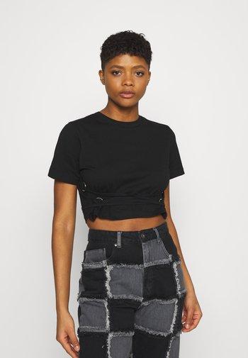 TRUE - Print T-shirt - black