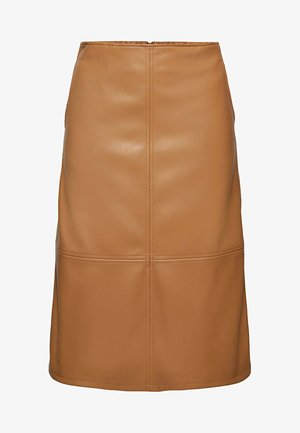 FASHION - A-line skirt - caramel
