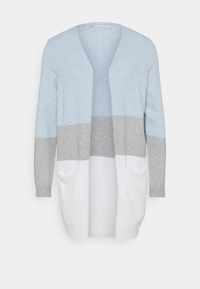 ONLQUEEN LONG  - Strikjakke /Cardigans - cashmere blue/cloud dancer