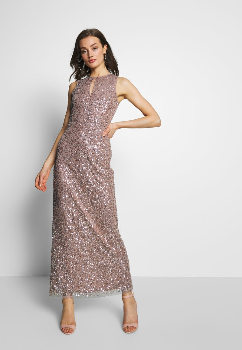 Lace & Beads - MAXI - Occasion wear - rose