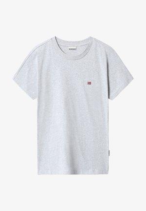 SALIS - Camiseta básica - light grey melange
