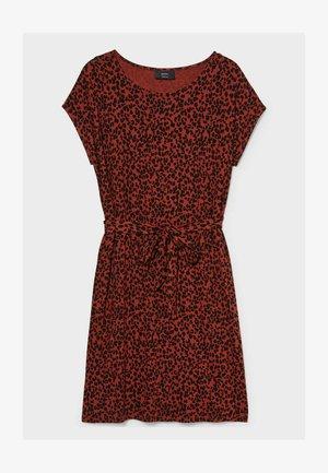 Jersey dress - red / black