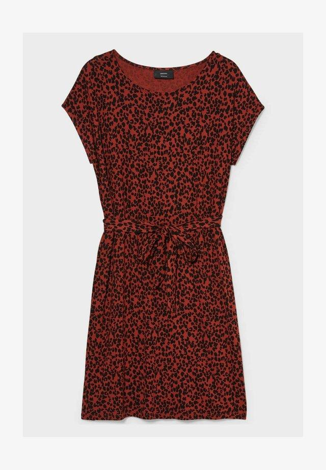 Sukienka z dżerseju - red / black