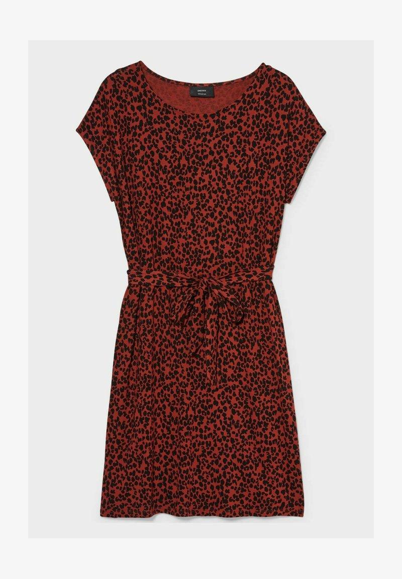 C&A - Jersey dress - red / black