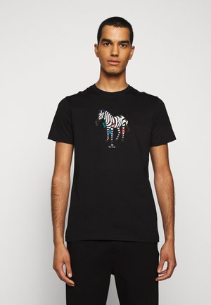 MENS SLIM FIT ZEBRA CLIMB - Print T-shirt - black