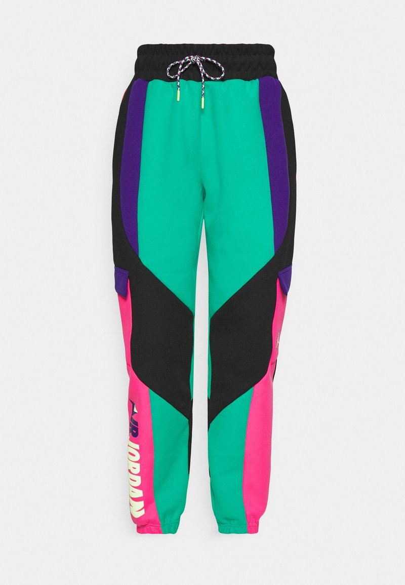 Jordan PANT - Jogginghose - neptune green/black/watermelon/court purple/grün 53DpaI