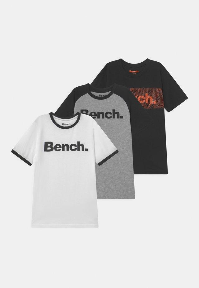 WHITLOCK 3 PACK - T-shirt med print - white/grey marl/black