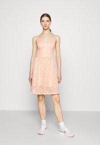 ONLY - ONLNEW ALBA SMOCK MIX DRESS - Koktejlové šaty/ šaty na párty - peach melba - 0