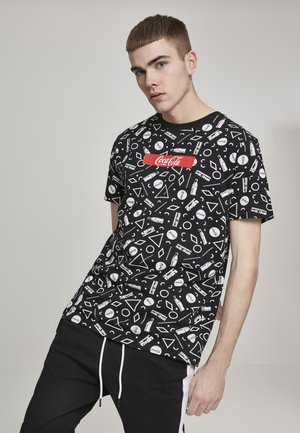 COCA COLA AOP BOX LOGO  - Print T-shirt - black