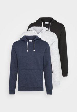 3 PACK - Hoodie - dark blue/black/grey