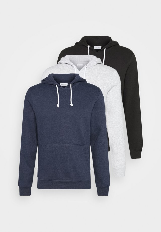 3 PACK - Hoodie - dark blue/black/grey