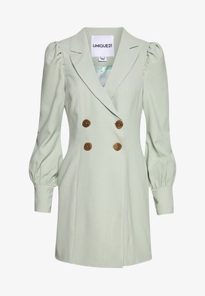 PUFF SLEEVE BLAZER DRESS - Day dress - fresh sage