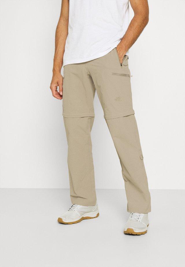 EXPLORATION CONVERTIBLE PANT - Kalhoty - dune beige