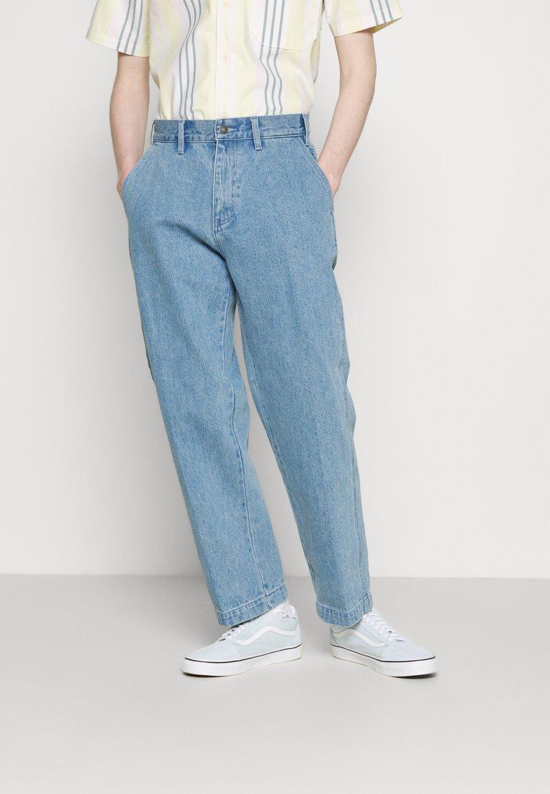 Obey Clothing - HARD WORK CARPENTER - Straight leg -farkut - light indigo